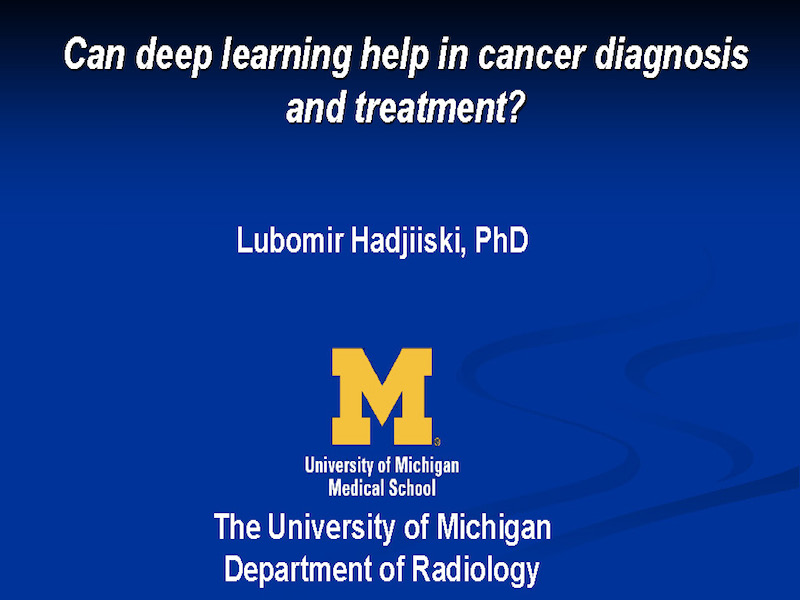 AAPM VL-Deep Learning and Applications in Medical Imaging
