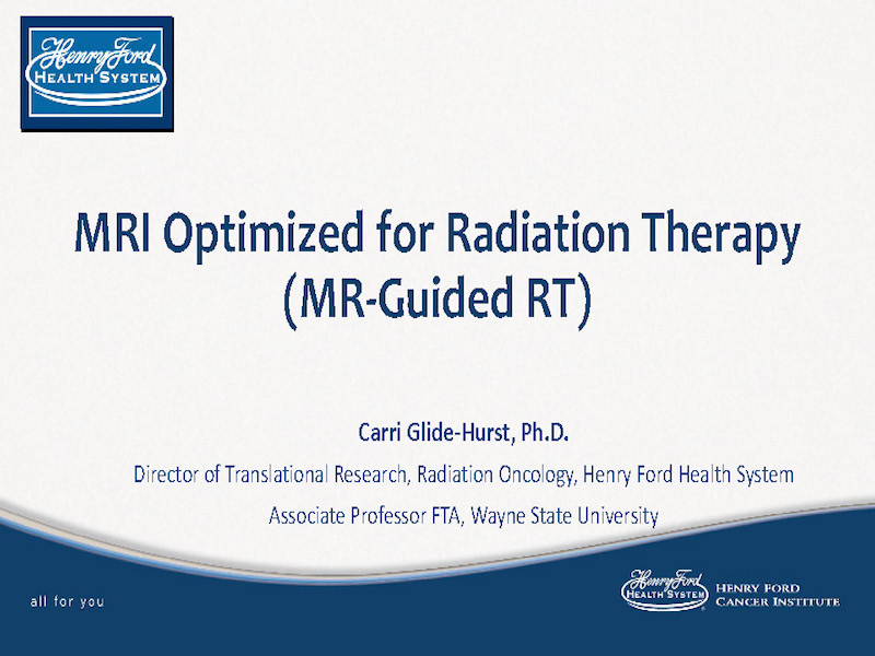 AAPM VL-MR-guided Radiotherapy