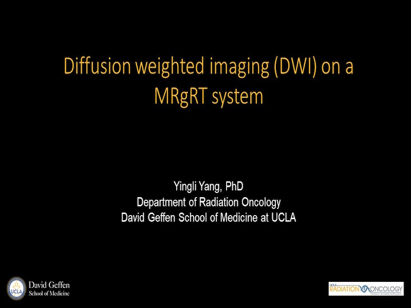 AAPM VL-Advanced DWI: Applications for Radiation Oncology