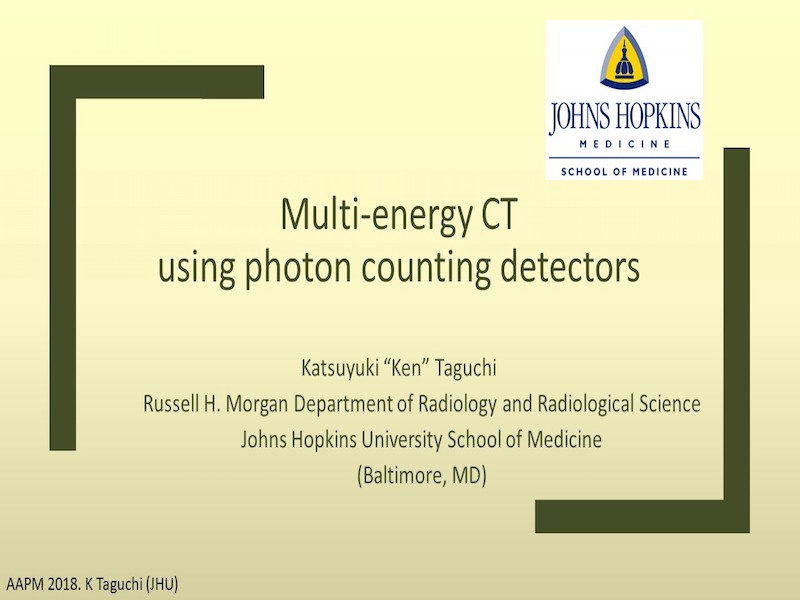 AAPM VL-Multi-Energy and Multi-Contrast CT Imaging